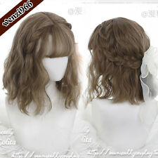 Gothic Harajuku Sweet Lolita Cosplay Brown+Gray Gradient Wig Daily Curly Hair #1