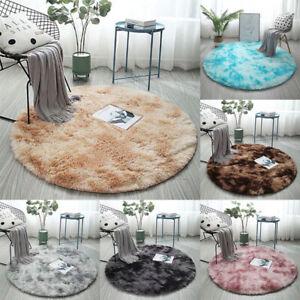 Round Carpet Plush Rug for Home Living Room Bedroom Fluffy Floor Carpets Rugs