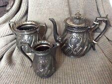 Silver plate tea set by j g