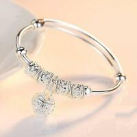 Fashion Women Jewelry 925 Silver Plated Cuff Bracelet Charm Bangle