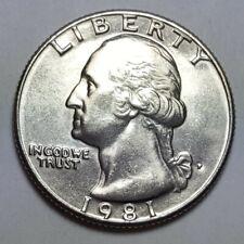 1981 P Washington Quarters 25 cents Nice Details Brilliant Uncirculated Coin