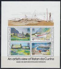 Tristan da Cunha 1978 ** Bl.7 Gemälde Paintings Landschaften Landscapes [sq6579]