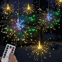Firework LED Copper Fairy Wire String Lights Remote Control Christmas Decoration
