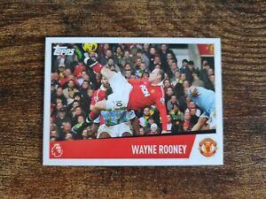 Wayne Rooney Merlin Topps 2019 Premier League Overhead Kick Vs Man City Sticker
