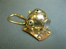 Messing  Taucherhelm   Schlüsselanhänger  3 cm