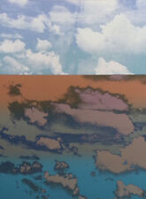 "Paula Crane ""Horizon"" Signed Art Serigraph abstracted landscape, Submit Offer!"