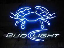 "New Bud Light Crab Beer Neon Light Sign 24""x20"""