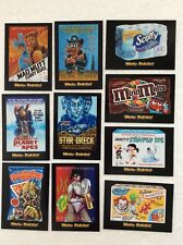 Wacky Packages Go to the Movies 90 Sticker Card Complete Set Plus Wrapper 2018