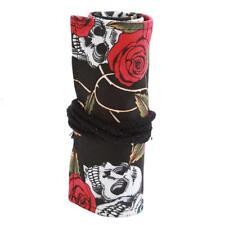 1PC Canvas Pencils Holder Bag Storage Roll Up Curtain Wrap 36pcs Marker Pen JJ