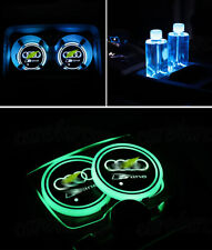 New For Audi S-Line LED Car Cup Holder Pad Mat Auto Atmosphere Lights Colorful