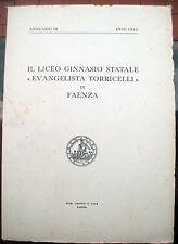 1952 ANNUARIO DEL LICEO GINNASIO TORRICELLI DI FAENZA