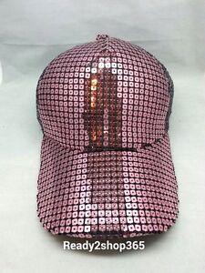Hip Hop Snapback Sequin Baseball Cap Hat Sequins Women Men Trucker Mesh Hats US