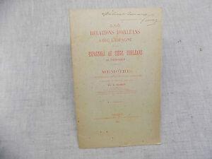 Les Relations d'Orléans avec l'Espagne et les Espagnols au Siège d'Orléans 1892