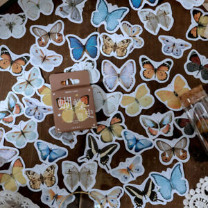 Butterfly Vintage Bullet Journal Decorative Diary Scrapbooking Stickers 46pcs
