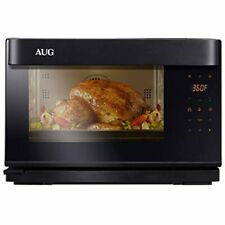 Aug Countertop Steam Oven Convection Grill 8 Functions Combi Black Stainless
