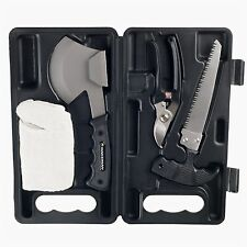 Wakeman Camping Hiking Tools Axe Clippers Gloves with Case Boyscouts