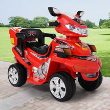Red Kids Ride On ATV Quad 4 Wheel Electric Toy Car 6V Battery Power with Remote