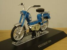 ALTAYA IXO PEUGEOT 104 BLUE SCOOTER BIKE MODEL MD011 1:18