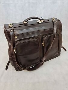 Maxwell Scott Brown Italian Leather Suit Bag/Travel Bag Made in Italy