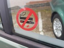 6 NO SMOKING NO VAPING STICKERS VIEW BOTH SIDES ON GLASS SIGN STICKER