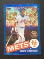 Darryl Strawberry 2020 Topps Series 1 Silver Pack Retro Refractor BLUE /150 Mets