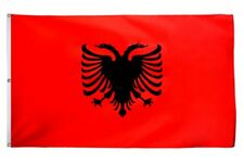 AUTOFAHNE ALBANIEN 45x30cm AZ FLAG Auto fla ALBANISCHE AUTOFLAGGE 30 x 45 cm