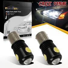 2pcs 1156 7506 P21W White 3 Cree Super Bright LED Backup Reverse Light Bulbs