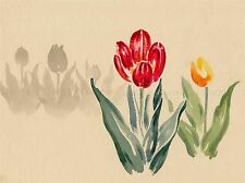 NATURE JAPAN ABSTRACT FLOWER TULIP RED KOITSU POSTER ART PRINT PICTURE BB1396A