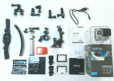 GoPro HERO 4 Silver with Accessories - Go Pro Camera with box and manual