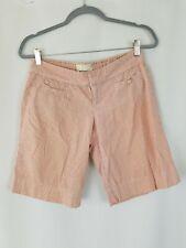 Anthropologie Elevenses women 2 striped pockets Bermuda shorts