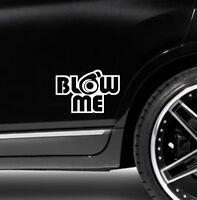1X Blow me turbo Decal Funny Car Vinyl Sticker Euro JDM Racing Window Decal
