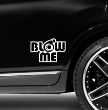 1X Blow me turbo Decal Funny Car Vinyl Sticker Euro JDM Racing Window Decal