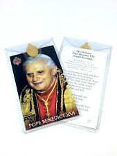 POPE BENEDICT XVI - PRAYER CARD & MEDAL IN WALLET