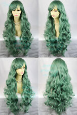 Wiwigs Watch Out Cosplay Green Long Curly Ladies Wig