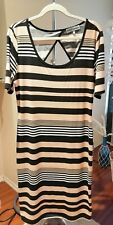 Almost Famous women striped dress with open back size 2X