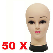 LOT 50X Mannequins Display Mould Manikin Head For Hats Wig Show Model Female US