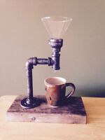 Vintage Coffee Maker Made From Pipe Fittings