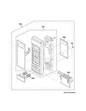 New OEM GE General Electric Microwave CONTROL PANEL SUBASM, WH WB56X23928