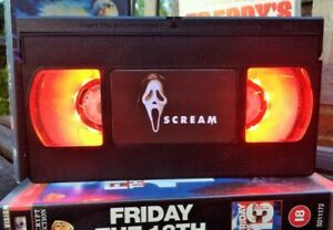 Scream Scary Movie Desk Lamp, Horror Movie, VHS, Bed Light, Present, Gift, TV