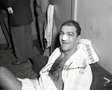 Rocky Marciano Autographed Repro Photo 8X10 - The Brockton Blockbuster 1954