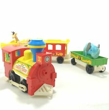 Vintage 1973 Fisher Price Little People Circus Train 991 with Elephant + Giraffe