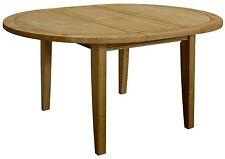 Eden solid oak furniture round extending dining table