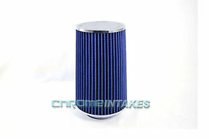 """BLUE 1995 UNIVERSAL 89mm 3.5"""" INCHES BIG TALL AIR INTAKE FILTER"""