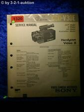 Sony Service Manual CCD V30E Video Camera Recorder (#1320)