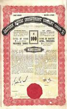 Original Canada 1938 5% Bond Eastern Rivers Investment Co 4 shares $100 coupons