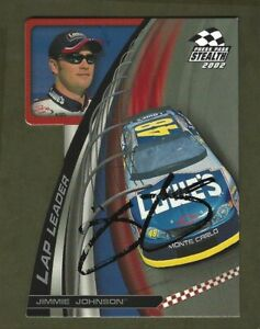 JIMMIE JOHNSON  - AUTOGRAPHED -  2002 Press Pass Stealth - Card #LL13     [e48]