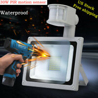 30W PIR Motion Sensor Flood Light Outdoor Waterproof LED Lights Security Lamp US