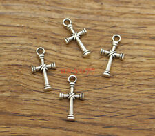 30pcs Cross Charms Religious Crucifix Charms Antique Silver Tone 11x20mm 1361