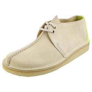 Clarks Originals Desert Trek Mens Off White Desert Shoes - 12 UK