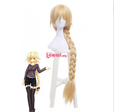 Fate/Grand Order Joan of Arc Braid Blonde Long Synthetic Hair Cosplay Wig ML256